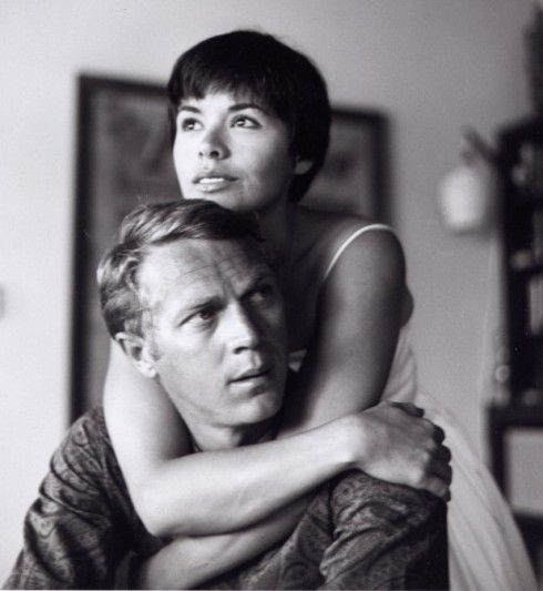 Neile adams and hubby Steve McQueen