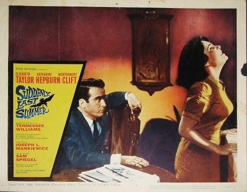 SUDDENLY,+LAST+SUMMER+(1960)+AMAZING+CLIFT+&+TAYLOR+LOBBY+CARD+
