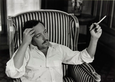 Tennessee Williams, Paris, 1959 photo by Gisèle Freund