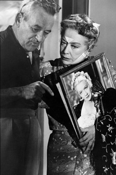 William Wyler and Miriam Hopkins on the set of The Children's Hour