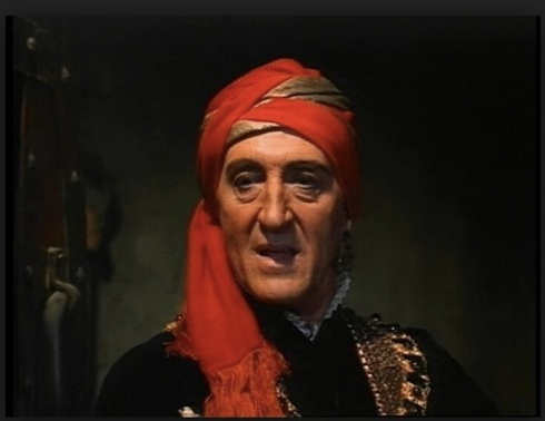 Basil Rathbone in The Magic Sword