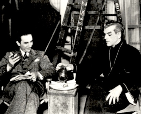 Boris and Bela in Edgar Ulmers The Black Cat