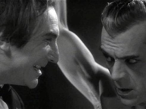 Flaying Karloff Bela close up