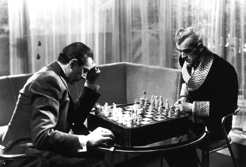 Game of Death- Karloff and Lugosi match wits with a game of chess in order to decide our heroine's fate