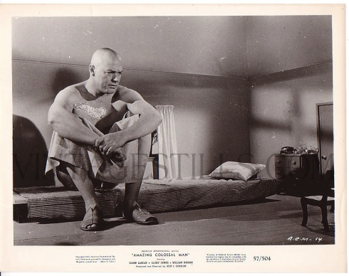 Glenn Manning is the Amazing Colossal Man Bert I Gordon-lobby card