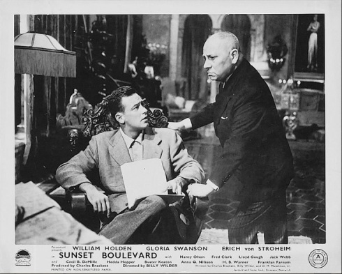 Holden and Stroheim Sunset Blvd Lobby Card