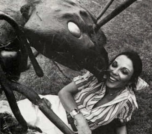 Joan Collins having fun in Empire of The Ants