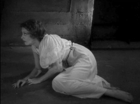 Joan on the floor after escape