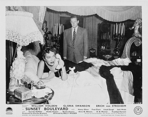 Swanson and Holden lobby card Sunset Blvd