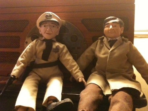 Barney and Columbo dolls