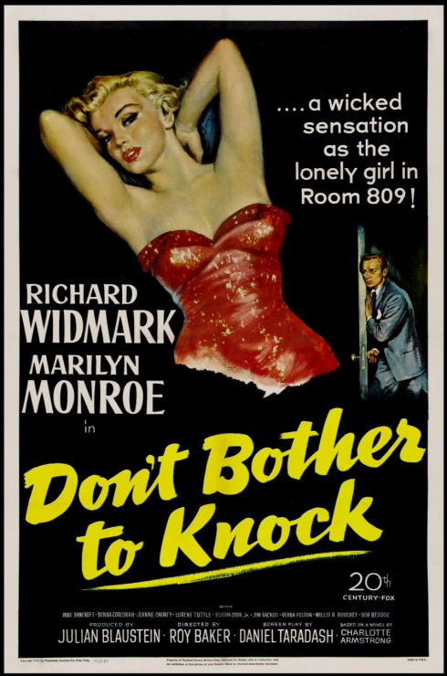 roy-baker-don-t-bother-to-knock-starring-marilyn-monroe-richard-widmark-anne-bancroft-movie-poster-1952