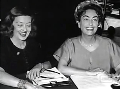 Bette and Joan on the set of Baby Jane