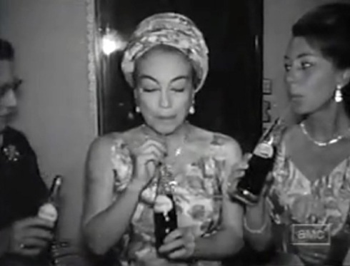Crawford drinking Pepsi set of Baby Jane