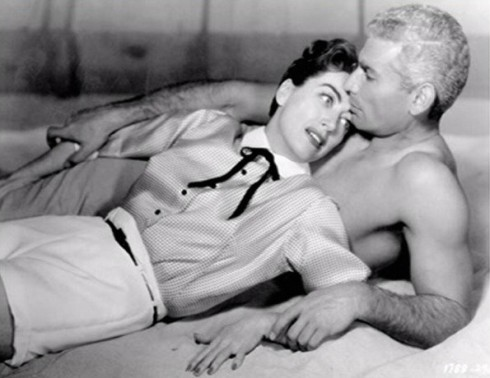 Joan and Jeff Chandler Female on the Beach