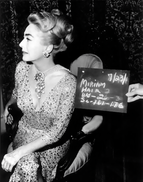 joan crawford on the set Miriam slate