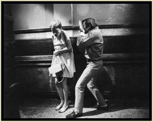 Polanski on the set with Mia