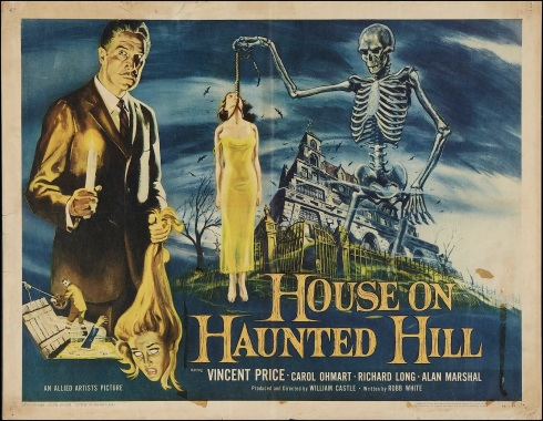 vintage house on haunted hill poster