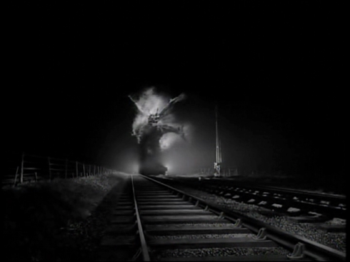 The Fire Demon on the Train Tracks