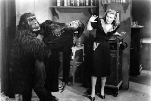 Ape Man Bela and Louise Currie