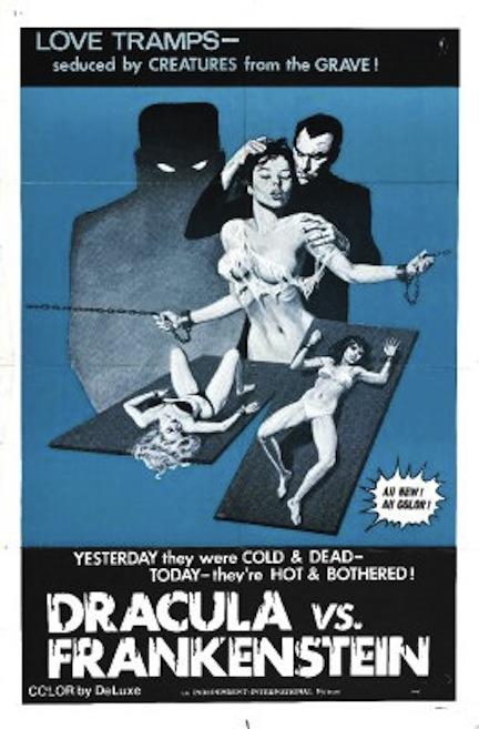 Dracula vs Frankenstein poster