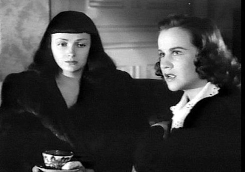 Jean Brooks and Kim Hunter in The Seventh Victim