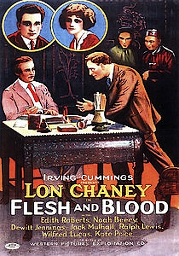 Lon Chaney Flesh & Blood poster