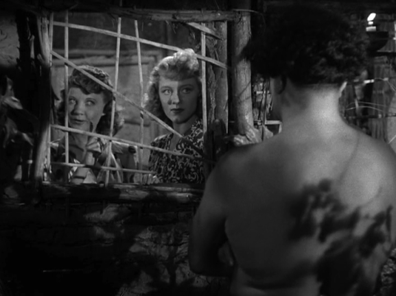 Una Merkel and Anne Nagel in Mad Doctor of Market Street the window