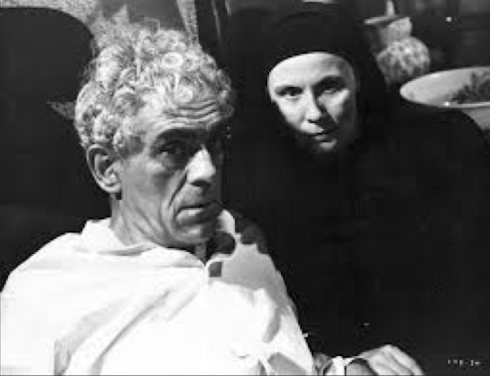 Karloff and Thimig in Isle of the Dead Lewton
