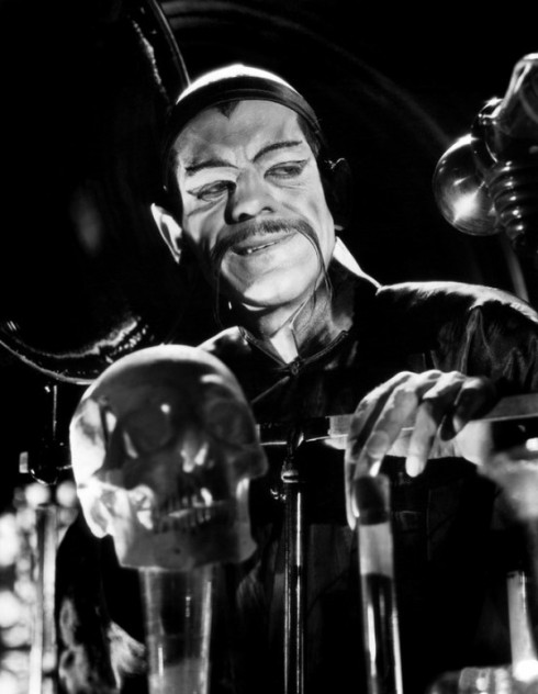 Karloff as Fu Manchu