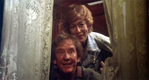 Eileen Heckart and Burgess in Burnt Offerings-Dan Curtis