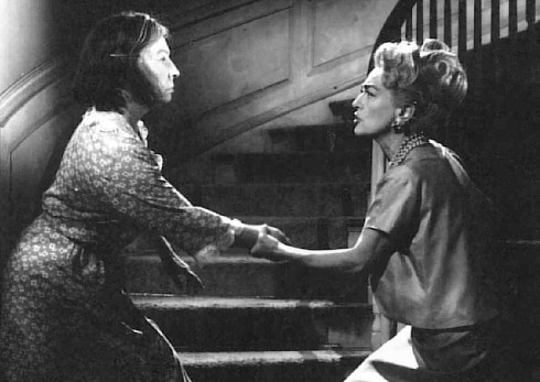 agnes as Thelma with Joan Crawford before she was repleced by de Havilland