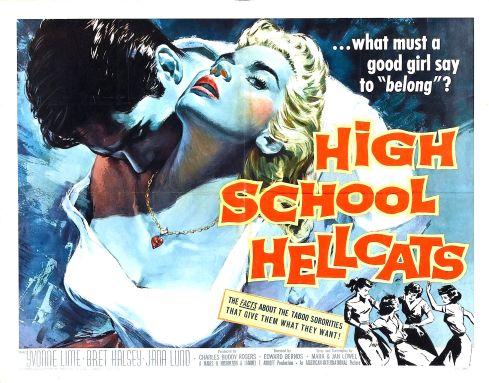 High School Hellcats 1958 poster