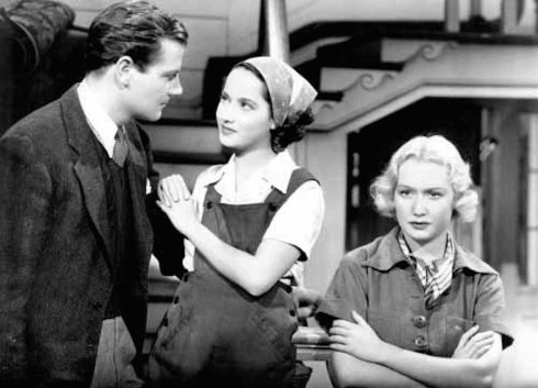 Joel McCrea, Merle Oberon and Miriam Hopkins These Three