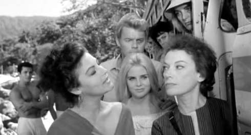 night of the iguana Grayson Hall and Ava Gardner