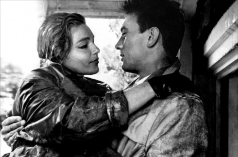 Simone Signoret and Laurence Harvy Room at the Top