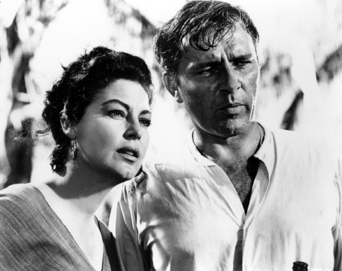 The Night of the Iguana (1964) Directed by John Huston Shown: Ava Gardner (as Maxine Faulk), Richard Burton (as Rev. Dr. T. Lawrence Shannon)