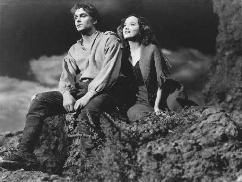 Olivier-and-Oberon-in-Wuthering-Heights