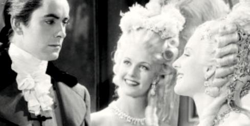 Tyron Power, Anita Louise, Norma Shearer (Marie Antoinette 1938