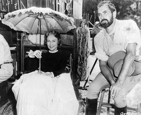 033-agnes-moorehead-theredlist-Agnes Moorehead and Tyrone Power on the set of Utamed directed by Henry King, 1955
