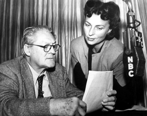 049-agnes-moorehead-theredlist-Lionel Barrymore and Agnes Moorehead for The Mayor of the Town, NBC Radio, 1943