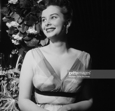 actress-audrey-dalton-attends-a-wedding-in-gettyimages Michael Ochs Archives Collection LA 1955