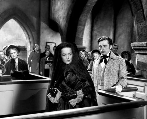 MY COUSIN RACHEL, Olivia de Havilland (center, wearing veil), Richard Burton (right of de Havilland), 1952, TM and Copyright © 20th Century Fox Film Corp. All rights reserved,