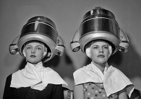 1955 hairdryer wants to be a space-age helmet