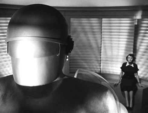 day-the-earth-stood-still-GORT on ship with Patricia Neal