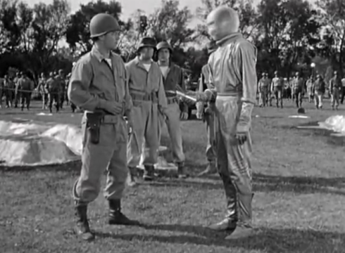 Day the Earth Stood Still Klaatu gets up atfer shot meets the military