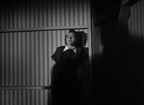 day the earth stood still patricia neal cowers in corner noir frame fear