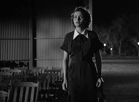 day the earth stood still patricia neal gets frightened of GORTS imposing nature