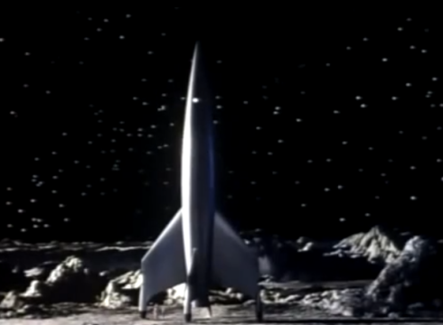 destination moon rocket