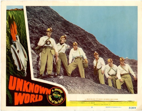 unknown world 1951 lobby card